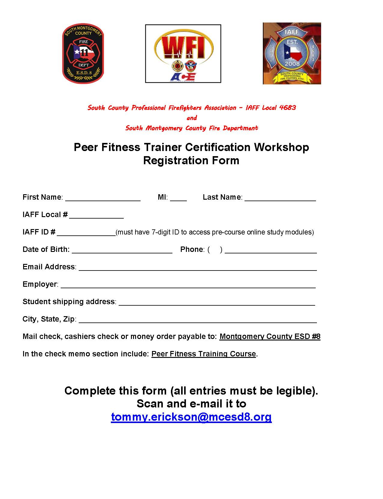 South county fire department peer fitness trainer certification workshop xflitez Choice Image